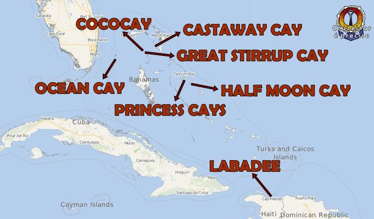 Ilhas particulares nas Bahamas