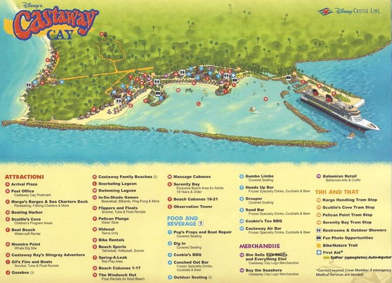 Mapa de Castaway Cay