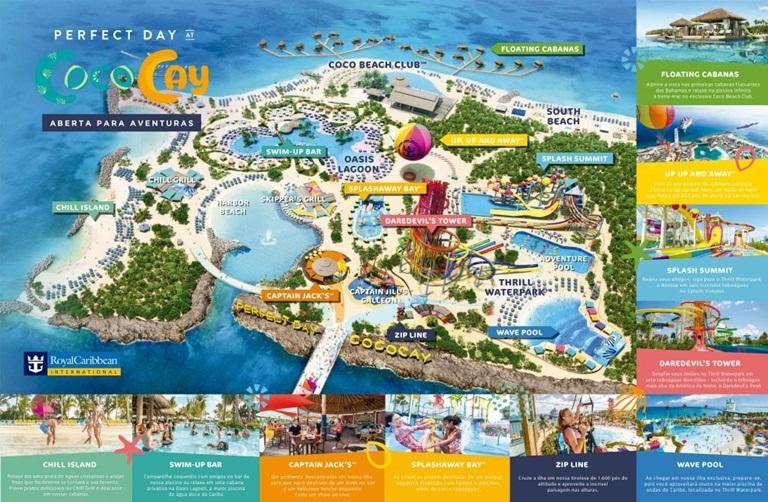 Mapa de CocoCay