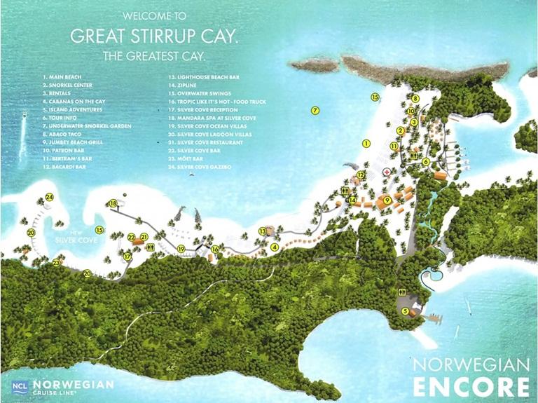 Mapa de Great Stirrup Cay