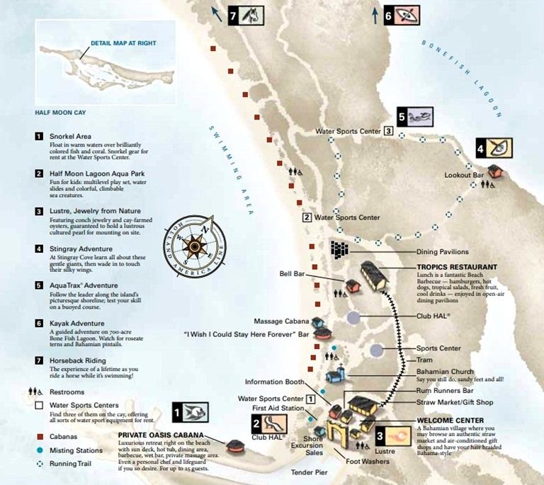 Mapa de Half Moon Cay