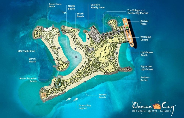 Mapa de Ocean Cay