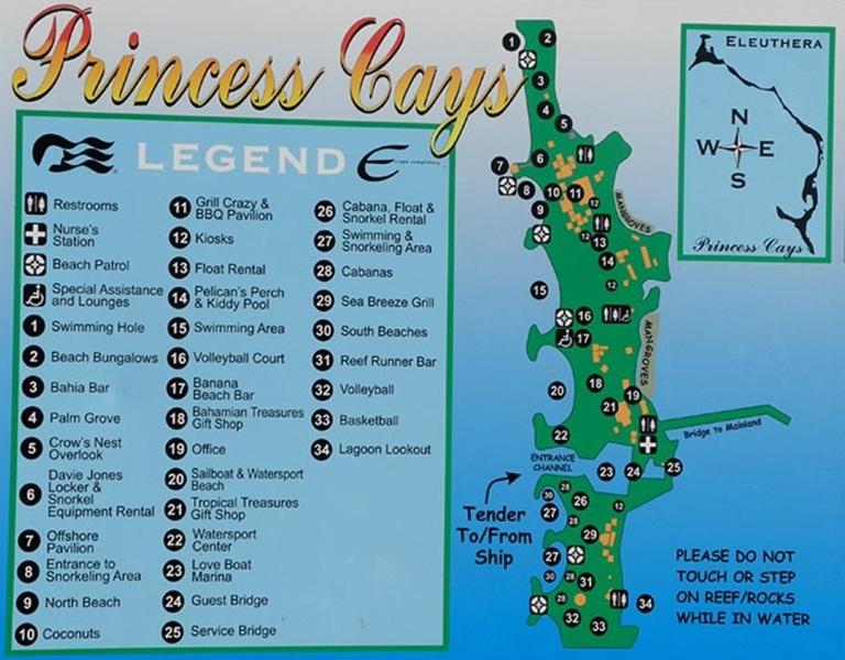Mapa de Princess Cays