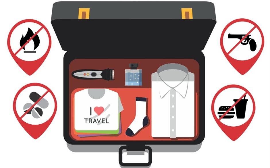 Itens proibidos na sua bagagem