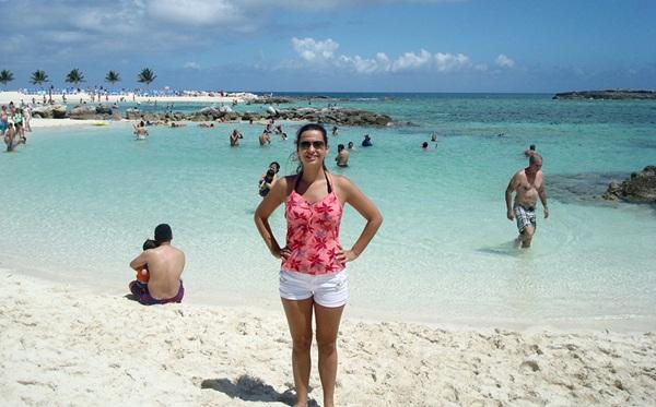Juliana em Cococay