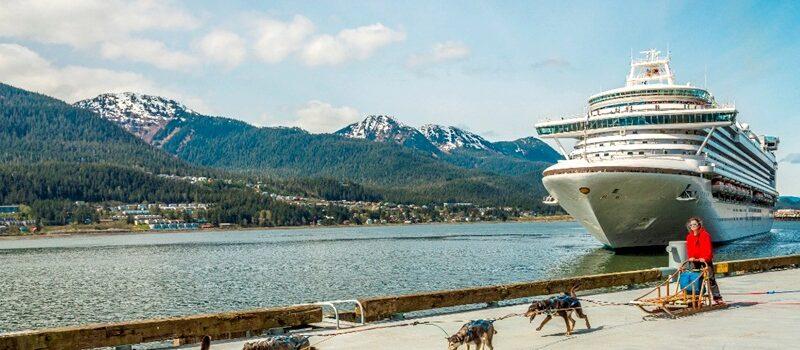 Cruzeiro em Juneau (Alasca/EUA)