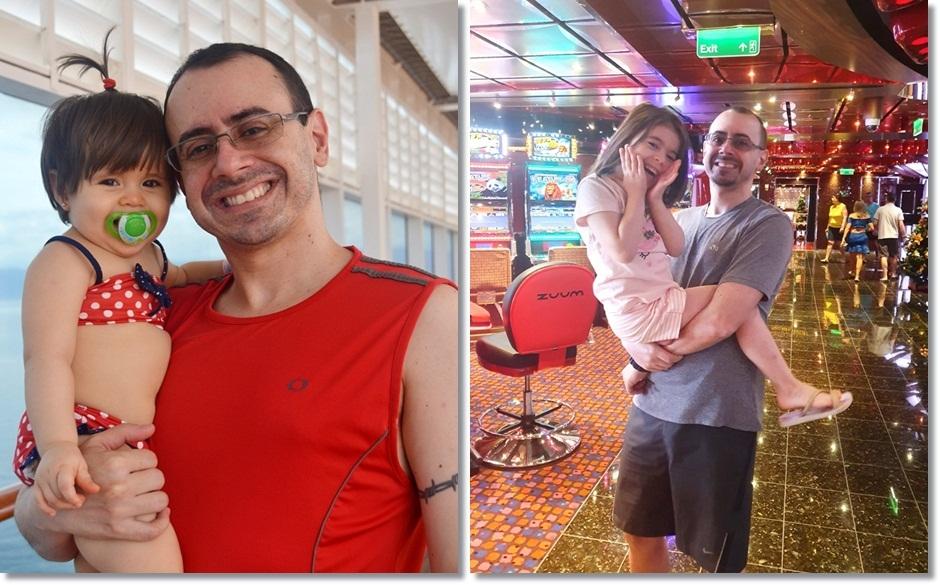 A paixão de cruzeirar, de pai para filha (Diana) – MSC Armonia (2016) / Costa Fascinosa (2019)